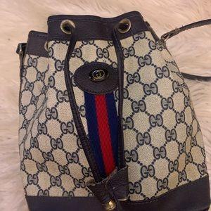 Vintage Gucci Bucket Drawstring Bag